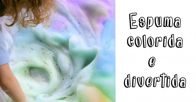 Espuma colorida para as férias!